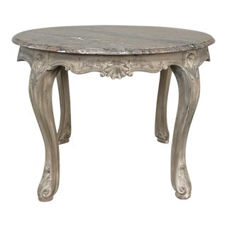 19th Century Regence Oval Marble Top End Table From Mons For Sale
