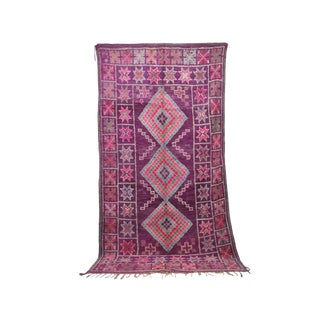 """1970s Moroccan Boujad Rug - 6'8"""" X 11'11"""" For Sale"""