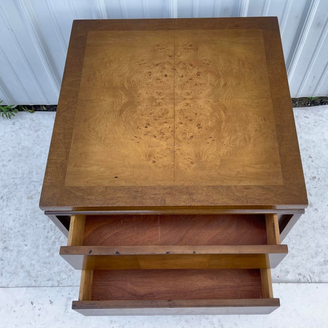 Mid-Century Two Drawer End Table or Nightstand For Sale - Image 12 of 13