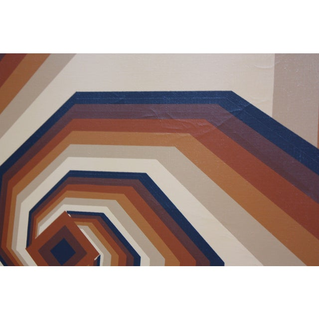 Oil on Canvas Geometric Op Art by Letterman For Sale - Image 4 of 13