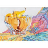 Image of 'Still Life of Boscobel Pears', by Sidnii Woods, Laguna Beach, California Post Impressionist Woman Artist, 1990 For Sale