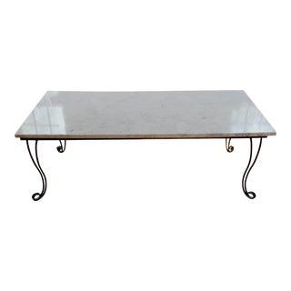 Marble & Metal Coffee Table