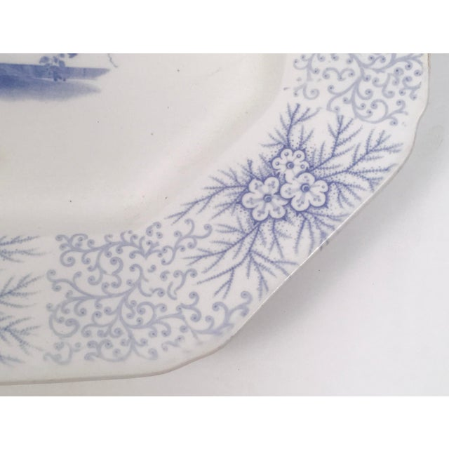 Staffordshire Blue and White Neoclassical Staffordshire Platter with Provenance For Sale - Image 4 of 11