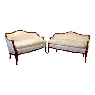 Modern Louis XV Love Seats- A Pair For Sale