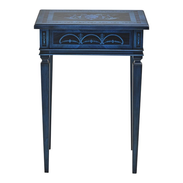 Italian Marquetry Accent Table For Sale