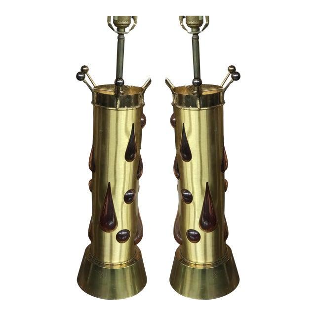 Felipe Derflingher Brutalist Table Lamps - a Pair For Sale