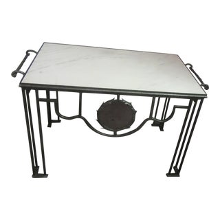 1970s Vintage Galvanized Steel Pastry Table For Sale
