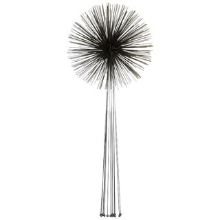 Curtis Jere Mixed Metal Starburst Pom Pom Wall Sculpture Mid-Century Modern Art For Sale
