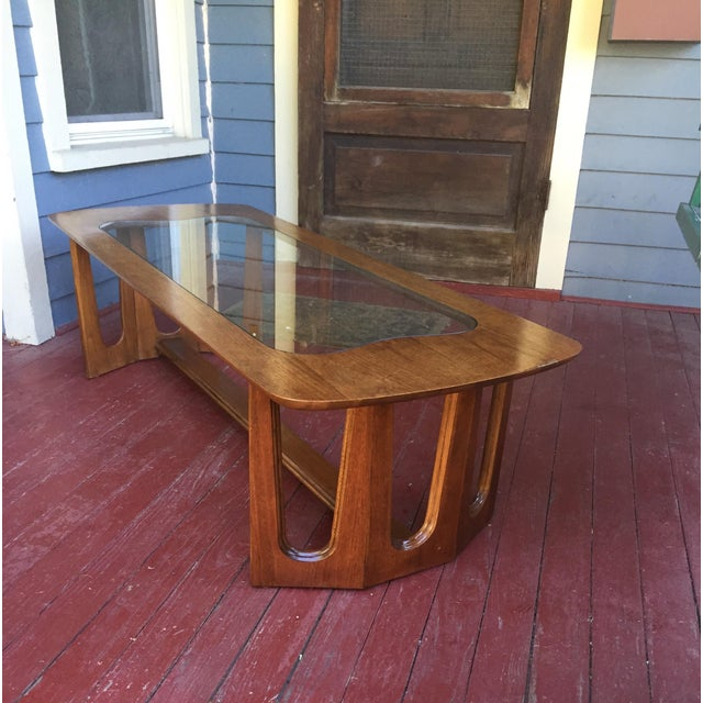 Brown Bassett Brasilia Style Coffee Table For Sale - Image 8 of 8