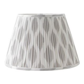 "Signature Ikat in Cashmere 6"" Lamp Shade, Light Gray For Sale"