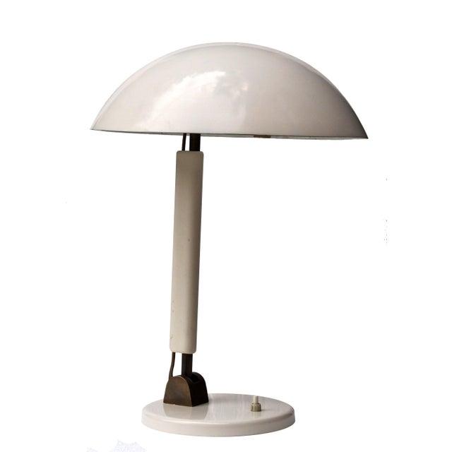 White Modernist Desk Lamp, Switzerland, 1950s For Sale - Image 8 of 8