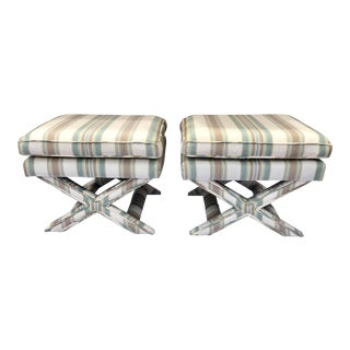 20th Century Vintage X Benches- a Pair For Sale