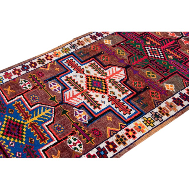 Textile Early 20th Century Vintage Turkish Wool Runner Rug For Sale - Image 7 of 9