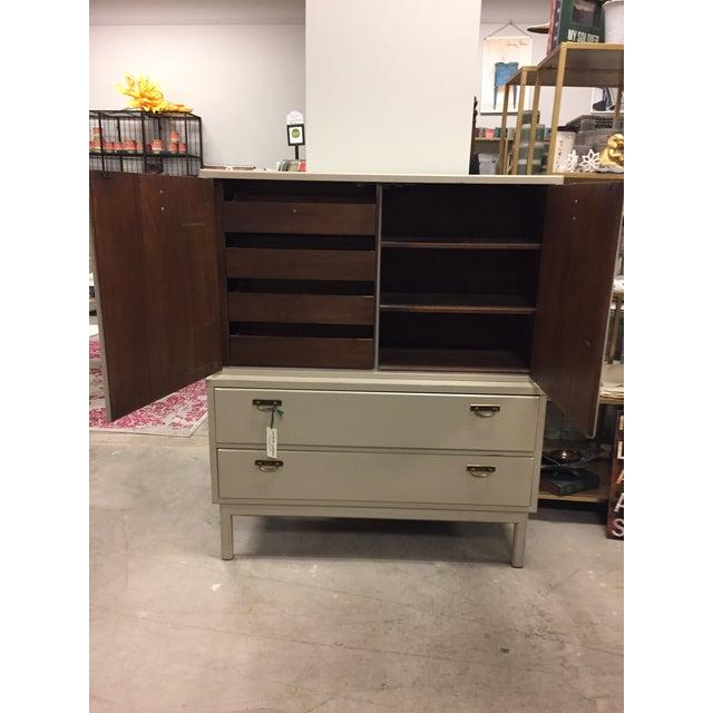 Mid-Century Modern Tan Dresser - Image 3 of 9