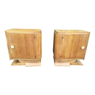 Petite Italian Cabinet Side Tables - a Pair For Sale