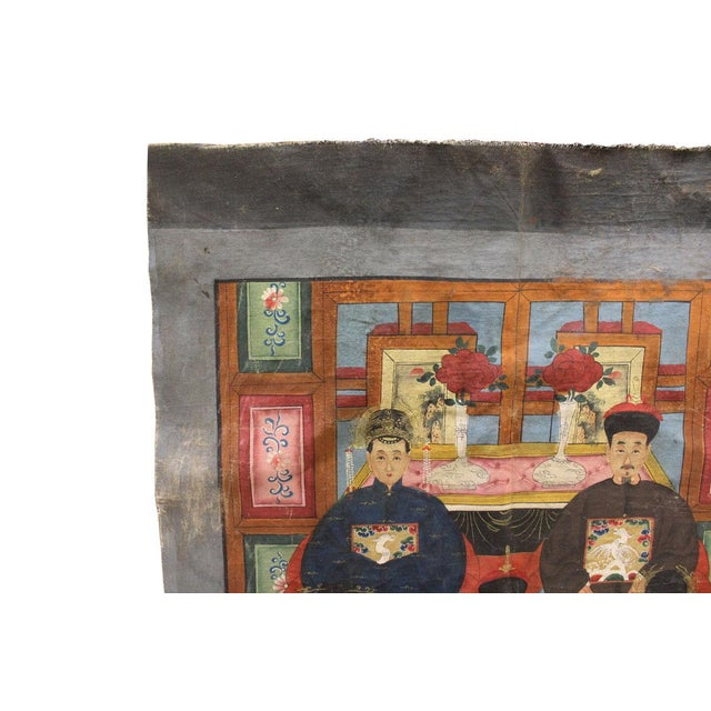 Vintage Chinese Canvas Artwork - Image 3 of 6