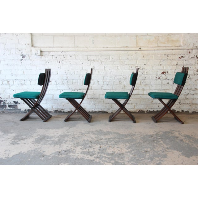 Harvey Probber Mid-Century Modern X-Base Dining Chairs - Set of 4 For Sale - Image 5 of 11