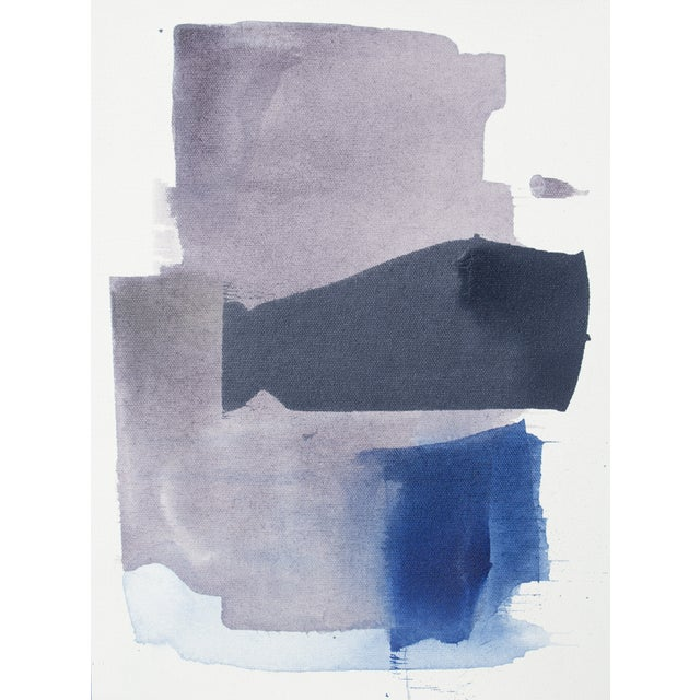 Julia Contacessi Abstract Purple & Blue Painting - Image 1 of 2