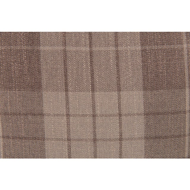 Contemporary Plaid & Velvet Whittington Pillows - A Pair For Sale - Image 3 of 5