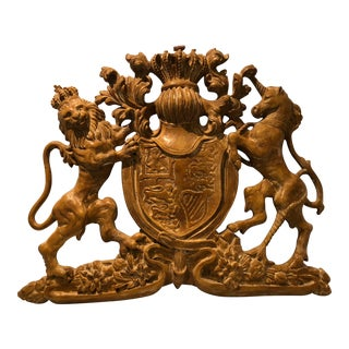 Carved Coat of Arms For Sale