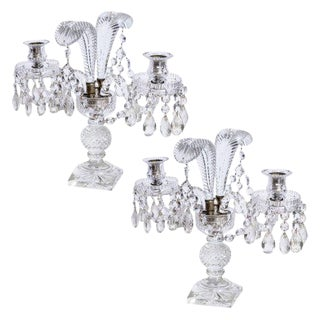 Antique English Prince of Wales Candlelabra For Sale