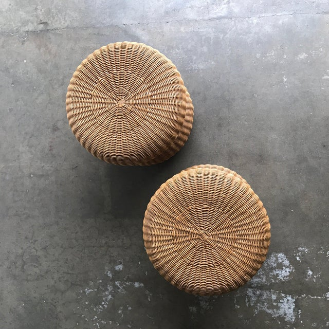 Late 20th Century Rattan Side Table For Sale - Image 9 of 10