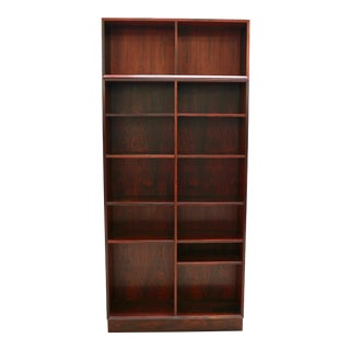 1960s Danish Modern Two-Piece Rosewood Bookcase by Brouer Møbelfabrik For Sale