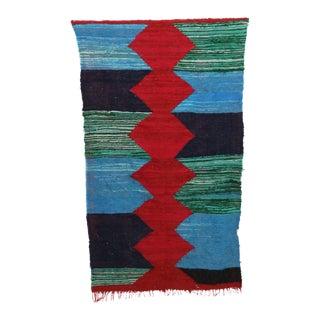 "Moroccan Kilim Boucherouite Rug- 4'8"" X 7'10"" For Sale"