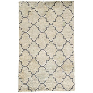 Jaipur Living Ithaca Natural Trellis Blue/ Tan Area Rug - 9′ × 13′ For Sale
