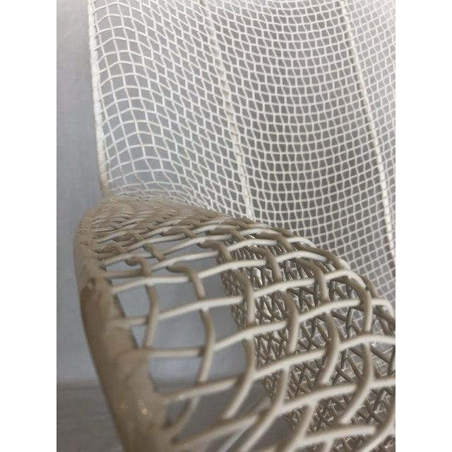 1960s Vintage White Sculptura Russell Woodard Patio Chairs- A Pair For Sale - Image 12 of 13