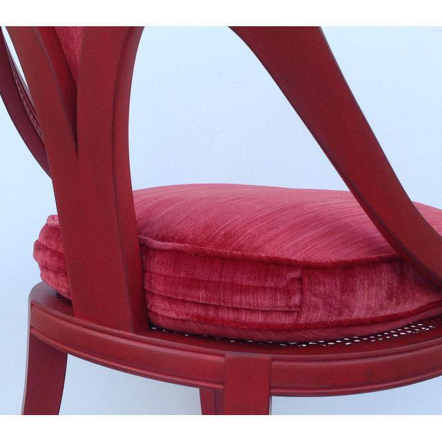 Hollywood Regency Spoon Back Chairs - a Pair For Sale - Image 10 of 10