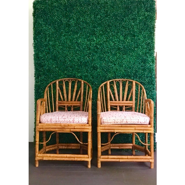 1980s Vintage Brighton Bamboo ChairsA Pair For Sale - Image 13 of 13