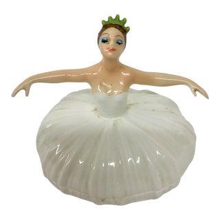 Porcelain Ballerina Trinket Box