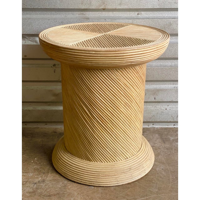Pretzel Reed Pedestal Table Base For Sale In Miami - Image 6 of 6