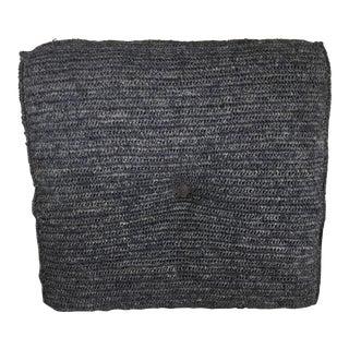Gray Square Pouf Cushion