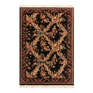 Abusson Pak-Persian Ken Black & Tan Wool Rug - 3'0 X 4'11