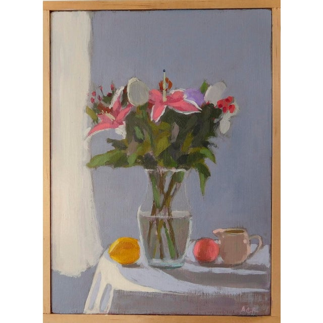 Bouquet With Fruit by Anne Carrozza Remick For Sale