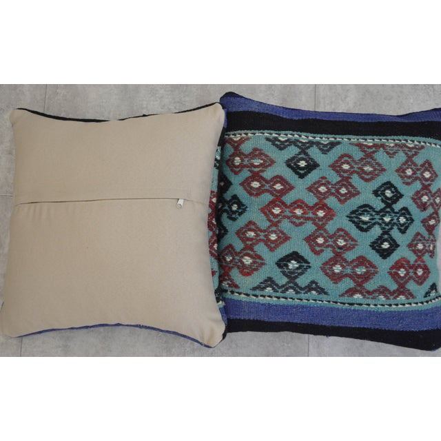 Hand-Woven Turkish Kilim Pillow Covers - A Pair - Image 7 of 7