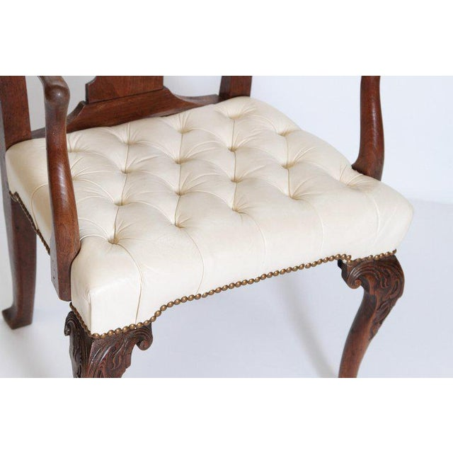 Animal Skin 18th Century Chippendale Mahogany Armchair For Sale - Image 7 of 12