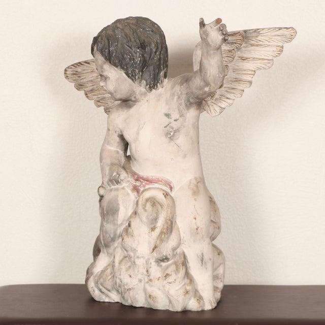 Antique Carved Wooden Angel For Sale - Image 5 of 11