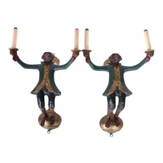 Bill Huebbe Monkey Light Sconces - a Pair For Sale