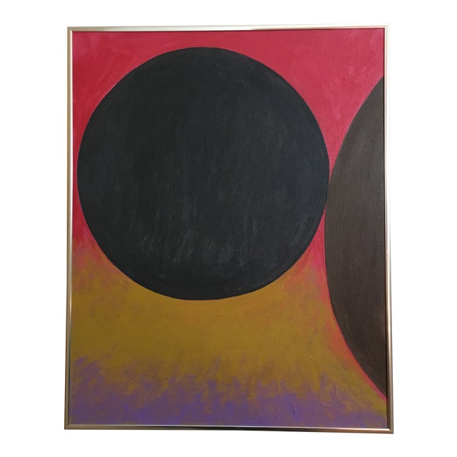 """Abstract """"Wall to Wall"""" Geometric Painting by David Seccombe For Sale"""