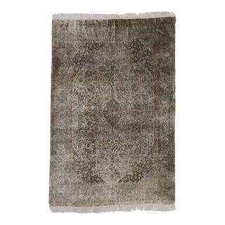 Vintage Persian Silk Qum Rug - 06'08 X 10'01 For Sale