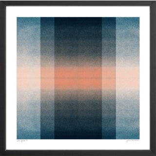 Color Space 3: Blush Pink & Midnight Blue in Black Custom Frame For Sale