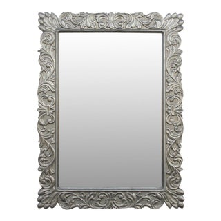 Lustruous Carved German Silver Mirror