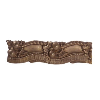 Early 20th Century Large Group of Gilt Victorian Embossed Brass Border For Sale