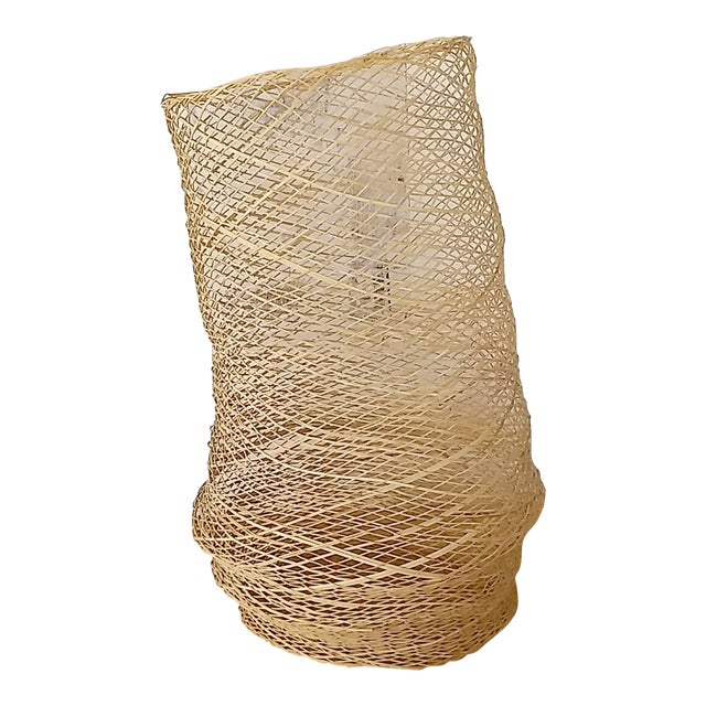 Contemporary Linda Kelly Contemporary Woven Basket Standing Floor Art Sculpture For Sale