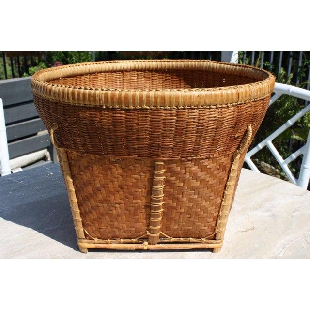 Large Vintage Woven Basket Planter For Sale - Image 13 of 13
