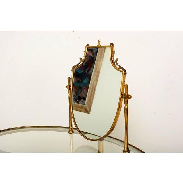 Gold Mid Century Modern Italian Brass Adjustable Vanity For Sale - Image 8 of 10