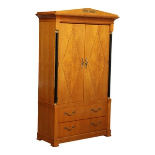 Thomasville Grand Classics Biedermeier, Empire Style Bedroom Armoire For Sale